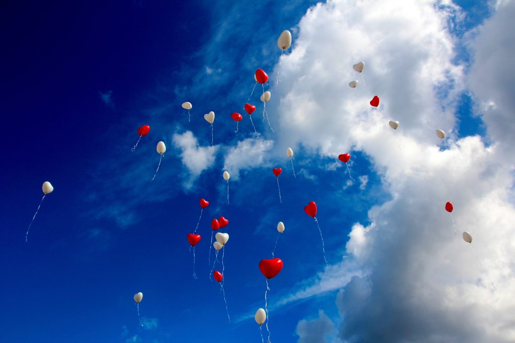 Scattering cremated remains by balloon