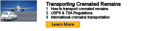 How to transport cremated remains