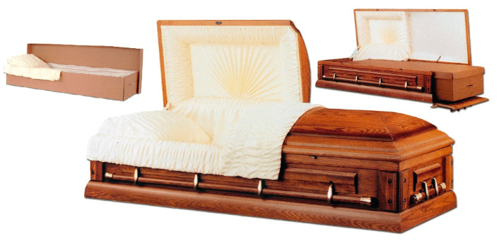 Ceremonial casket with insert