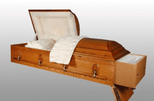 Rental casket for cremation