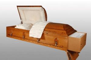Rental casket for cremation